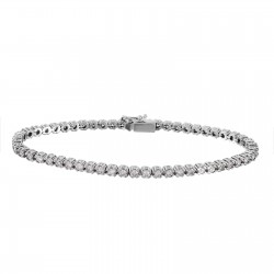 14KT White Gold 3.51ctw Diamond Tennis Bracelet Length 7