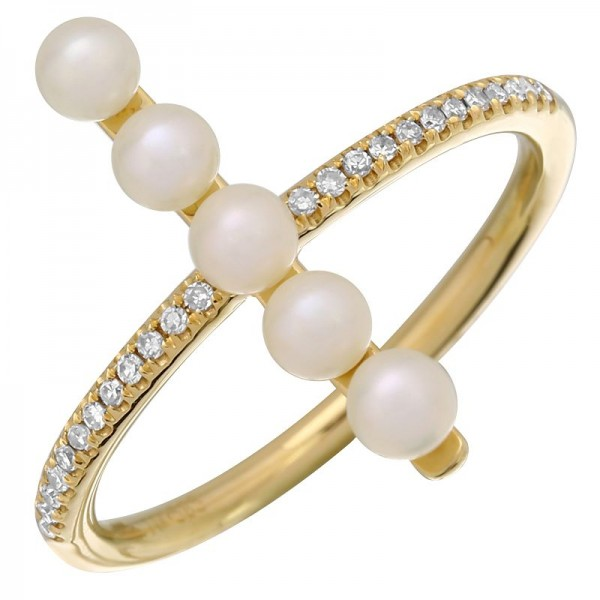14KT Yellow Gold Pearl Ring L25530