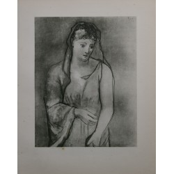 Woman with a Scarf, Pablo Picasso Lithograph 1923