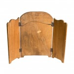 Vintage Hand Carved Wood Table Screen L4322