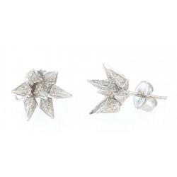 Karma El Khalil 18KT White Gold Diamond Hedgehog Stud Earrings