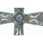 18kt White & Yellow Gold Diamond Cross Pendant