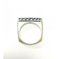 Sterling Silver Ring With Dolphin & Wave Design