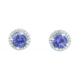 Tiffany & Co. Platinum Tanzanite Diamond  Stud Earrings