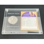 Rare Magic Johnson MVP Basketball Card & Silver Commemorative Coin