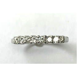 14kt White Gold 0.35ctw Diamond Women's Unity Ring Size 6
