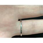 14kt White Gold 0.35ctw Diamond Women's Unity Ring Size 6