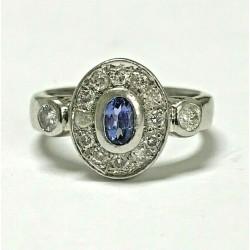 Platinum 0.33ct Tanzanite & Diamond Ring WLG15BMH