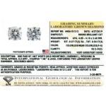0.54ctw Certified Lab Grown Diamond Stud Earrings