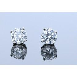 1.64ctw Certified Lab Grown Diamond Stud Earrings