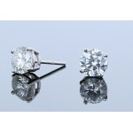 1.64ctw Certified Lab Grown Diamond Stud Earrings
