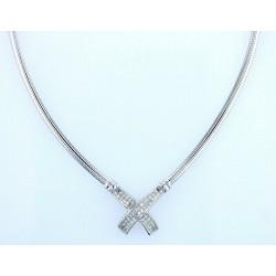 14kt White Gold 1.00ctw Diamond Necklace WLG71
