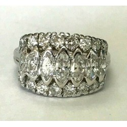 10kt White Gold & 1.5ctw Diamond Ring WLG138