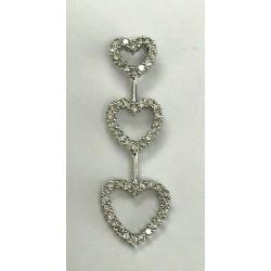 14kt White Gold 0.33ctw Diamond Heart Pendant WLG213